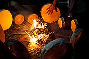 Macapa_AP, Brasil...Comunidade remascente de quilombolas do Curiau, em Macapa, Amapa. Na foto os quilombolas estao esquentando os tambores para a danca tipica Marabaixo...The Quilombola remaining of Curiau, in Macapa, Amapa. In this photo .They are warming the drums for the typical dance Marabaixo...Foto: JOAO MARCOS ROSA / NITRO