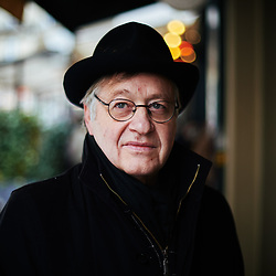 Yves Roucaute, writer and philosopher, posing in the street near the Cafe de Flore. Paris, France. January 22, 2019.<br /> Yves Roucaute, ecrivain et philosophe, pose dans la rue aux abords du Cafe de Flore. Paris, France. 22 janvier 2019.