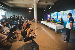 during arrival of Slovenian national team from Tokio 2020 Olympic games, 8. August 2021, Airport Jozeta Pucnika, Ljubljana, Slovenia. Photo by Grega Valancic