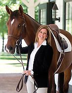 Abigail Wexner and her equestrian themed stable house in New Albany for the Capital Style decor section. (Will Shilling/Capital Style)