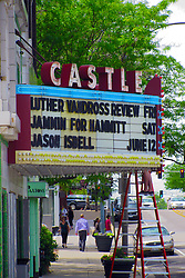 05 June 2014:   Downtown Bloomington. Castle Theatre marquis