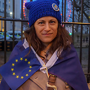 London,England,uk, 24th March 2017: Richmond Terrace Vigil for Victory, we will not leave the EU quietly, we are the flea in May's ear the thorn in her side! demonstration  ahead for tomorrow Brexit opposite Downing Street,London,UK. by See Li