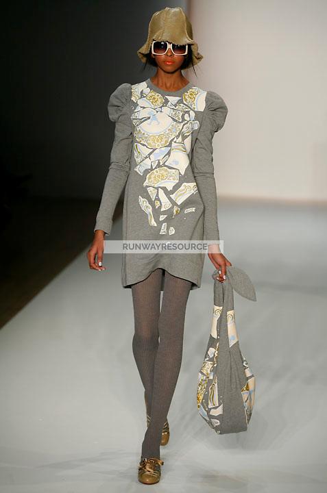 A model walks the runway wearing Karen Walker Fall 2009 Collection