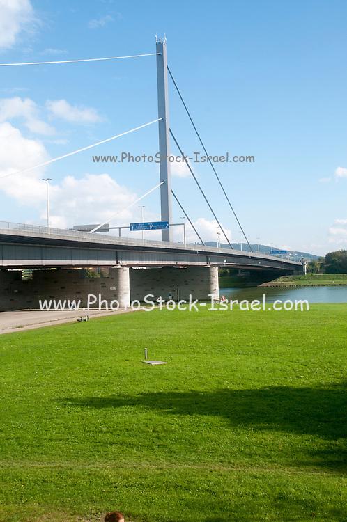 Voest bridge across the Danube River, Linz, Austria