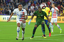 March 21, 2019 - Orlando, Florida, USA - US midfielder Weston McKennie (8) and Ecuador goalkeeper Alexander Dominguez (22) go for a ball during an international friendly between the US and Ecuador at Orlando City Stadium on March 21, 2019 in Orlando, Florida. .The US won the game 1-0...©2019 Scott A. Miller. (Credit Image: © Scott A. Miller/ZUMA Wire)