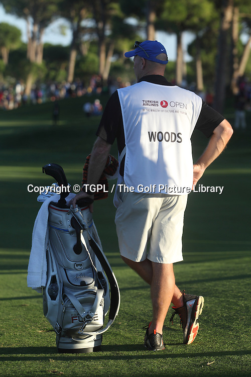 Tiger WOODS (USA)  caddie Joe Lacarva during second round Turkish Airlines Open by Ministry of Culture and Tourism 2013,Montgomerie Course at Maxx Royal,Belek,Antalya,Turkey.
