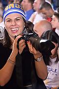 DESCRIZIONE : Reggio Emilia Lega A 2014-15 Grissin Bon Reggio Emilia - Banco di Sardegna Sassari playoff finale gara 7 <br /> GIOCATORE : Geppi Cucciari<br /> CATEGORIA : Tifosi<br /> SQUADRA : Banco di Sardegna Sassari<br /> EVENTO : LegaBasket Serie A Beko 2014/2015<br /> GARA : Grissin Bon Reggio Emilia - Banco di Sardegna Sassari playoff finale gara 7<br /> DATA : 26/06/2015 <br /> SPORT : Pallacanestro <br /> AUTORE : Agenzia Ciamillo-Castoria / Richard Morgano<br /> Galleria : Lega Basket A 2014-2015 Fotonotizia : Reggio Emilia Lega A 2014-15 Grissin Bon Reggio Emilia - Banco di Sardegna Sassari playoff finale gara7<br /> Predefinita :