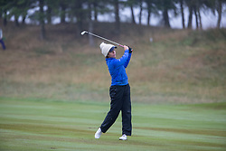 Great Britain's Georgia Hall plays her approach shot at the 16th during her Semi Final match with Sweden this morning during day eleven of the 2018 European Championships at Gleneagles PGA Centenary Course.