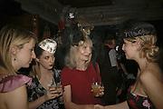 Daisy de Villeneuve  and Jan de VilleneuveStephen Jones Summer Hat party to celebrate 25 years of Milllinery. Debenham House, 8 Addison Rd. Holland Park, London. 13 July 2006.  ONE TIME USE ONLY - DO NOT ARCHIVE  © Copyright Photograph by Dafydd Jones 66 Stockwell Park Rd. London SW9 0DA Tel 020 7733 0108 www.dafjones.com