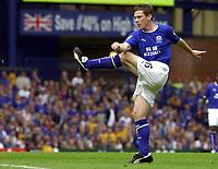 Photo: Greig Cowie.<br /> 23/08/2003.<br /> FA Barclaycard Premiership. Everton v Fulham. Goodison Park.<br /> Gary Naysmith fires Everton one up