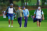 Rickie Fowler (USA) and Justin Thomas (USA) during Round 1 of the Players Championship, TPC Sawgrass, Ponte Vedra Beach, Florida, USA. 12/03/2020<br /> Picture: Golffile | Fran Caffrey<br /> <br /> <br /> All photo usage must carry mandatory copyright credit (© Golffile | Fran Caffrey)