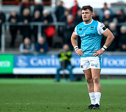 Luke Morgan of Ospreys<br /> <br /> Photographer Simon King/Replay Images<br /> <br /> Guinness PRO14 Round 12 - Dragons v Ospreys - Sunday 30th December 2018 - Rodney Parade - Newport<br /> <br /> World Copyright © Replay Images . All rights reserved. info@replayimages.co.uk - http://replayimages.co.uk
