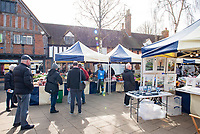 stratford upon avon market most people stayed away but a few still risked going photo Mark Anton Smith
