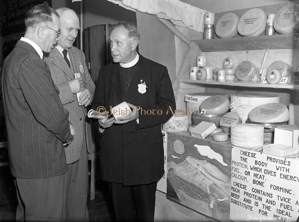 12/08/1952 <br /> 08/12/1952<br /> 12 August 1952<br /> Muintir na Tire, Rural Week at Summerhill College, Sligo. Fr. J.M. Hayes, Parish Priest of Bansha and a founder of Muintir na Tíre is on the right.