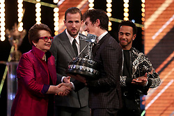 Geraint Thomas after winning the BBC Sports Personality of the Year award during the BBC Sports Personality of the Year 2018 at Birmingham Genting Arena.