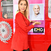 Lilly Douse attend Celeb Bri Tea, on board the BB Bakery bus on 22 March 2019, London, UK.