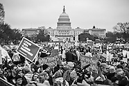 Women's March in Washington D.C in Black and WHite