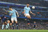 33 Gabriel Jesus and 47 Phil Foden for Manchester City during the The FA Cup 3rd round match between Manchester City and Rotherham United at the Etihad Stadium, Manchester, England on 6 January 2019.