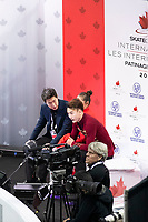 KELOWNA, BC - OCTOBER 26:  Feiyao Tang and Yongchao Yang of China await their score in pairs free skate during Skate Canada International at Prospera Place on October 25, 2019 in Kelowna, Canada. (Photo by Marissa Baecker/Shoot the Breeze)
