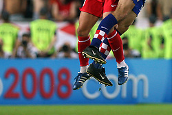 Football player`s legs during the UEFA EURO 2008 Quarter-Final soccer match between Croatia and Turkey at Ernst-Happel Stadium, on June 20,2008, in Wien, Austria. Turkey won after penalty shots. (Photo by Vid Ponikvar / Sportal Images)