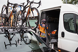 Nikki Brammeier (GBR) of Boels-Dolmans Cycling Team prepares for  Tour de Yorkshire - a 122.5 km road race, between Tadcaster and Harrogate on April 29, 2017, in Yorkshire, United Kingdom.