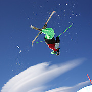 Kentaro Tsuda, Japan, in action in the Men's Halfpipe Finals during The North Face Freeski Open at Snow Park, Wanaka, New Zealand, 3rd September 2011. Photo Tim Clayton...