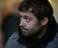 Leigh Halfpenny the Wales rugby team player speaks to the media during the Wales rugby team announcement press conference at the Vale Resort Hotel in Hensol, near Cardiff , South Wales on Thursday 23rd November 2017.  the team are preparing for their Autumn International series test match against New Zealand this weekend.   pic by Andrew Orchard