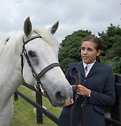 17/08/2017 Sarah Dixon with Manor April at the Connemara Pony Show in Clifden. Photo:Andrew Downes, xposure