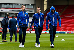 Tony Craig, Joe Partington and Adam Smith of Bristol Rovers arrive at Barnsley - Mandatory by-line: Robbie Stephenson/JMP - 27/10/2018 - FOOTBALL - Oakwell Stadium - Barnsley, England - Barnsley v Bristol Rovers - Sky Bet League One