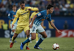 October 20, 2018 - Vila-Real, Castellon, Spain - Rodrigo Hernandez (R) of Atletico de Madrid competes for the ball with Pablo Fornals of Villarreal CF during the La Liga match between Villarreal CF and Atletico de Madrid at Estadio de la Ceramica on October 20, 2018 in Vila-real, Spain  (Credit Image: © David Aliaga/NurPhoto via ZUMA Press)