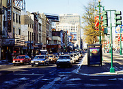 Traffic on Canal Street, central business district of downtown New Orleans, Louisiana, USA 1989