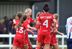 Millie Turner of Bristol City Women celebrates with team mates - Mandatory by-line: Paul Knight/JMP - 19/03/2017 - FOOTBALL - Stoke Gifford Stadium - Bristol, England - Bristol City Women v Millwall Lionesses - Women's FA Cup