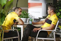 September 14, 2018 - Singapore, Singapore - Motorsports: FIA Formula One World Championship 2018, Grand Prix of Singapore, .ABITEBOUL Cyril (fr), Renault Sport F1 Managing Director, and BUDKOWSKI Marcin, Executive Director at Renault Sport F1  (Credit Image: © Hoch Zwei via ZUMA Wire)
