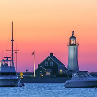 New England photography of Scituate Lighthouse at sunrise. This beautiful Massachusetts lighthouse is located on Cedar Point in Scituate Massachusetts.<br /> <br /> Picturesque New England lighthouse photos are available as museum quality photography prints, canvas prints, acrylic prints, wood prints or metal prints. Fine art prints may be framed and matted to the individual liking and interior design decorating needs:<br /> <br /> https://juergen-roth.pixels.com/featured/scituate-lighthouse-sunrise-juergen-roth.html<br /> <br /> Good light and happy photo making!<br /> <br /> My best,<br /> <br /> Juergen