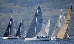 Silvers Marine Scottish Series 2017<br /> Tarbert Loch Fyne - Sailing<br /> <br /> RC35 Fleet with GBR9470R, Banshee, Charlie Frize, CCC, Corby 33.<br /> <br /> Credit Marc Turner / PFM