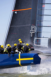 """First day of sailing on the """"Blue Boat"""". Artemis Racing. 24th of July, 2013, Alameda, USA"""