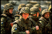 Soldier of the Czech Republic under NATO command deployed as peace-keepers in Bosnia.