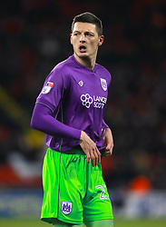 """Bristol City's Milan Duric during the Sky Bet Championship match at Bramall Lane, Sheffield. PRESS ASSOCIATION Photo. Picture date: Friday December 8, 2017. See PA story SOCCER Sheff Utd. Photo credit should read: Mike Egerton/PA Wire. RESTRICTIONS: EDITORIAL USE ONLY No use with unauthorised audio, video, data, fixture lists, club/league logos or """"live"""" services. Online in-match use limited to 75 images, no video emulation. No use in betting, games or single club/league/player publications."""