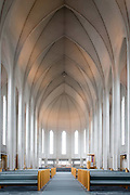 Hallgrímskirkja (Hallgrim's Church) in Reykjavik is the tallest and most striking church in Iceland.