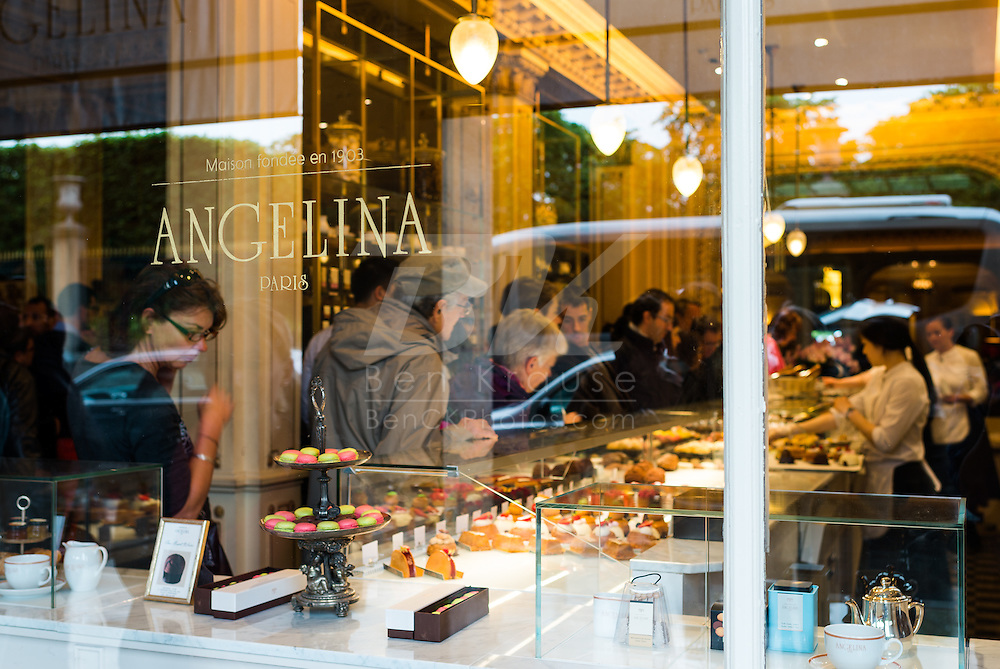 Angelina is a restaurant and pastry shop in Paris, France.  It's located near the Louvre.