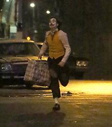 Joaquin Phoenix films 'The Joker' in New York. 20 Nov 2018 Pictured: Joaquin Phoenix. Photo credit: MEGA TheMegaAgency.com +1 888 505 6342