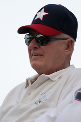 11 June 2004  Duffy Bass - Illinois State Baseball Coach (1963 - 1988, 713 wins) watches the game between the Twin City Stars and the Bluff City Bombers. CICL (Central Illinois Collegiate League) Horneberger Field, Illinois Wesleyan University, Bloomington, Illinois