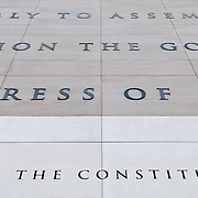 The exterior of the Newseum in Washington DC features a large extract carved in stone of the First Amendment to the Constitution that provides for freedom of the Press. The Newseum is a 7-story, privately funded museum dedicated to journalism and news. It opened at its current location on Pennsylvania Avenue in April 2008.