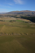 Aerial, Wanaka farm lands, South Island, New Zealand
