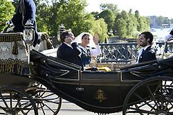 June 6, 2017 - Christopher O'Neill, princess Madeleine, prince Carl Philip..National day celebrations, Royal family, cortege to Skansen, Stockholm, 2017-06-06..(c) Carolina Byrmo / IBL ....Nationaldagen, kortege, Skansen, 2017-06-06 (Credit Image: © Aftonbladet/IBL via ZUMA Wire)
