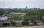 A view out the 6th floor window of the former Oscar Mayer headquarters building looking South towards Downtown Madison on Friday, May 17, 2019.