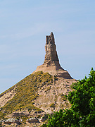 View of Chimney Rock National Historic Site, a natural landmark for western travellers.