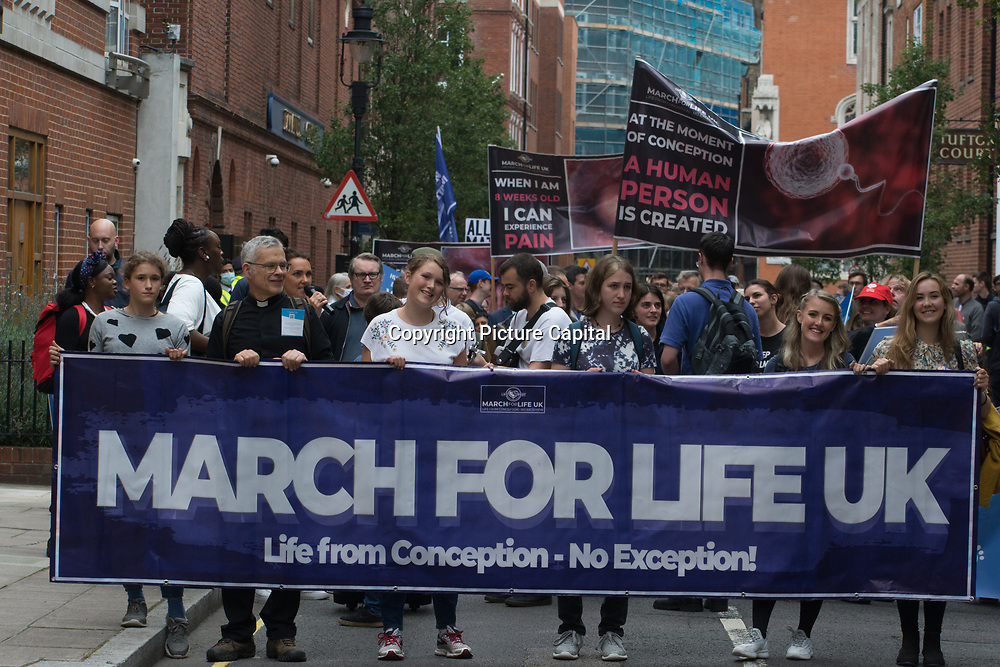 SPUC Glasgow - March for Life because Abortion is the #NumberOneIssue abortion in murder in London, UK on 2021-09-04.
