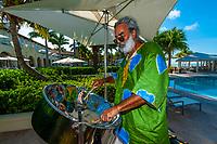 Steel drummer, Ritz-Carlton Casa Marina Hotel, Key West, Florida Keys, Florida USA
