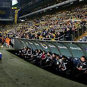 Besiktas's coach Slaven Bilic (R) during their Turkish superleague soccer derby Fenerbahce between Besiktas at the Sukru Saracaoglu stadium in Istanbul Turkey on Sunday 22 March 2015. Photo by Aykut AKICI/TURKPIX